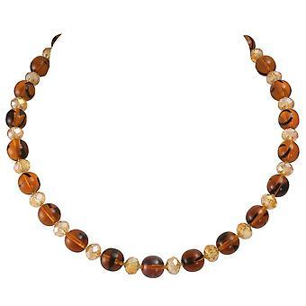 Ewige Sammlung Regency Amber Schildpatt Böhmisches Glas Perlen Halskette