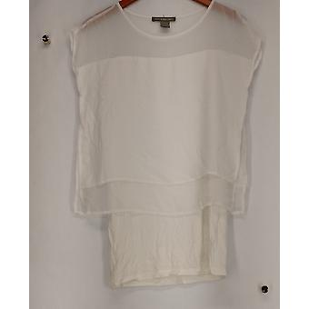 Kate & Mallory Top lyhythihainen Pop yli Top pituus alle pitsi Ivory A425144