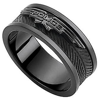 Policier Man Stainless Steel Ring Taille 10 PJ.26401RSUB-01-10