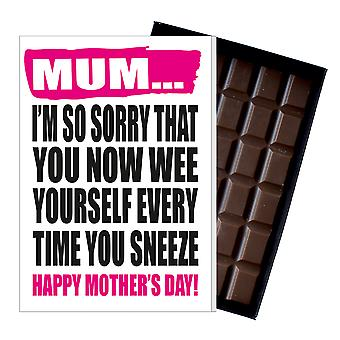Funny Mother's Day Gift Boxed Chocolate Present Rude Greeting Card For Mom Mum Mumy MIYF116