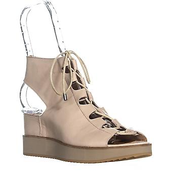 André Assous Womens Tamsin Leather Open Toe Casual Platform Sandals
