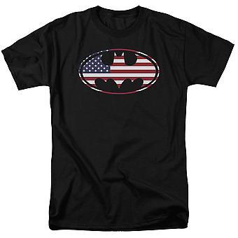 Batman amerikanska flaggan Classic logo män ' s T-shirt