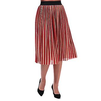 Womens Only Sway Stripe Skirt In Ginger Bread