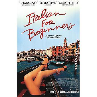 Italienisch für Anfänger (einseitiges Video) Original Video/Dvd Ad Poster