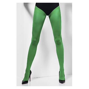 Mujer verde opaco medias disfraces accesorios