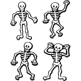 Set 4X Sticker Sticker Fete Deco Halloween Macbook Car 4 Skeleton Drole
