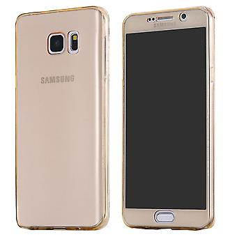 Galaxy S6 complete mobile 360 soft shell case gold