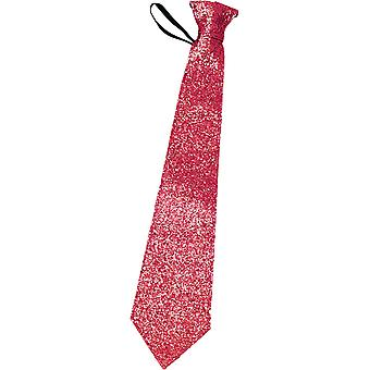 Tie in glittering red | Glitter tie red