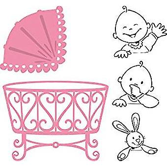 Marianne Design Elines Baby Collectables Stanzform und klare Stempel gesetzt,