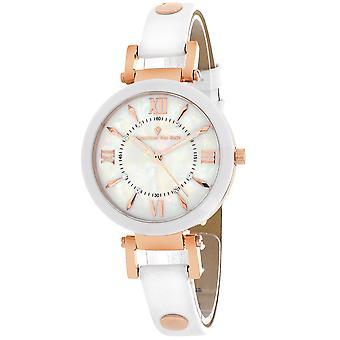 Christian Van Sant Women's Petite White MOP Dial Watch - CV8163