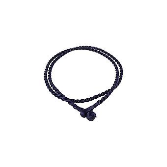 Storywheels Antique Navy Rayon Cord 42cm Necklace RCNBLUE