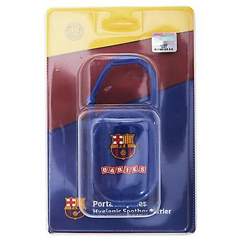 FC Barcelona Official Football Crest Baby Dummy/Soother Case/Box