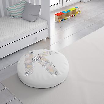 Meesoz Floor Cushion - Letter Girl-K Meesoz Floor Cushion - Letter Girl-K