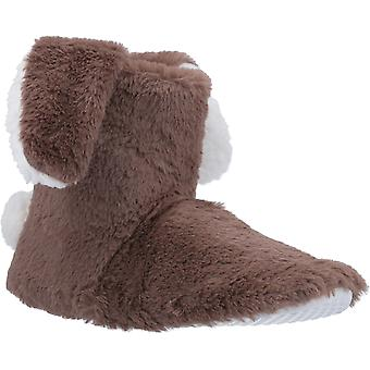 Divaz Womens Flopsy Knitted Bootie Taupe