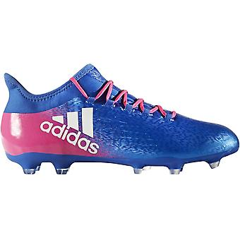adidas Performance Mens X 16.2 Firm Ground Sports Training Football Boots - Blue