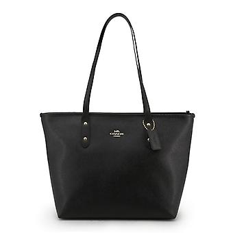 Coach women's leather shopping bag black f58846