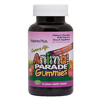 Nature's Plus Animal Parade Gummies Assorted Flavour 50 (29958)