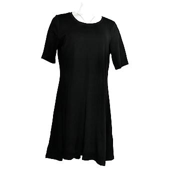 Isaac Mizrahi Live! Vestido Essentials Scoop Cuello Punto Negro A371955