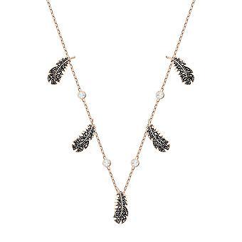 Swarovski halskjede og anheng 5497874-RAS de Bel M Tal Rhodi fjær svart krystaller kvinner