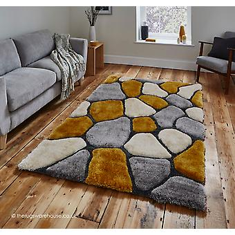 Cobbles Grey Yellow Rug