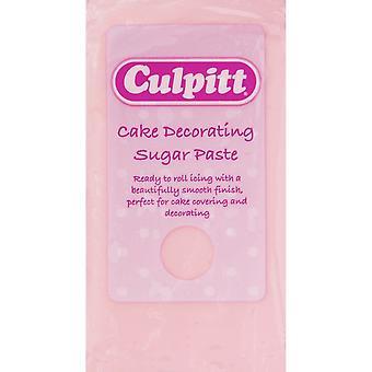 Bolo de Culpitt que decora a cor-de-rosa clara da pasta de açúcar 8 X 250g