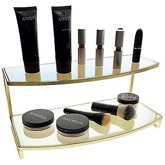 OnDisplay Gianna Iridescent/Gold Mirrored Cosmetic/Jewelry Display Stand