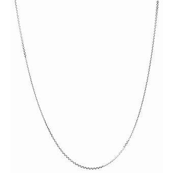 925 Sterling Silver Rhodium Finition 1.4mm Diam cut Classic Cable Chain Lobster Clasp Necklace Jewelry Gifts for Women - L