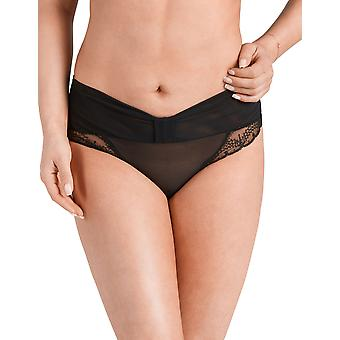 Nessa P1 Femmes-apos;s Roma Black Solid Colour Knickers Panty Brief