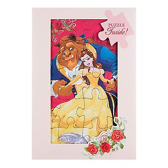 Hallmark Beauty And The Beast With Jigsaw Puzzle Greetings Card 25482210