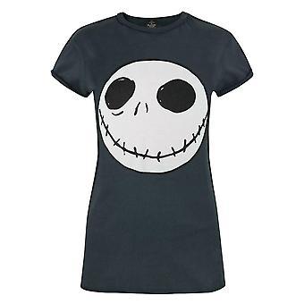 Nightmare Before Christmas Jack Reverse Seam Black Women's T-Shirt