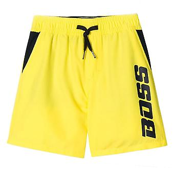 Hugo Boss Kids Yellow Logo Swimshorts