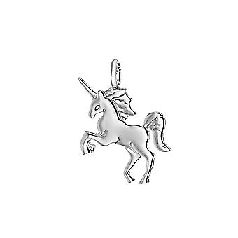 Jewelco London sterling silver rhodium plated 21.6mm x 26.7mm unicorn pendant