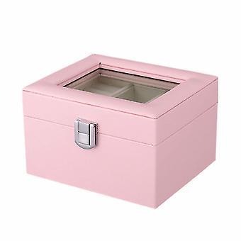 Pudełko na biżuterię z oknem - Różowy