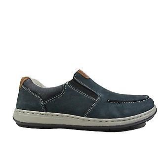 Rieker Patros 17360-15 cuero marino hombres Slip En zapatos casuales