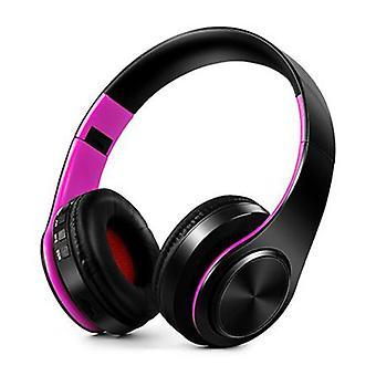 ZAPET căști fără fir Bluetooth căști wireless stereo Gaming Purple-negru