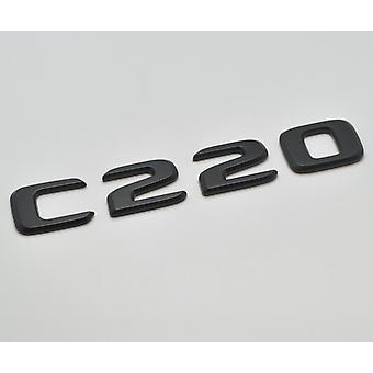 Matt Black C220 Flat Mercedes Benz Car Model Rear Boot Number Letter Sticker Decal Badge Emblem For C Class W202 W203 W204 W205 AMG