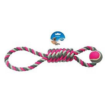 Duvo+ Pendel Rosa Tennisball 53cm (Hunde , Spielzeug und Sport , Bälle)