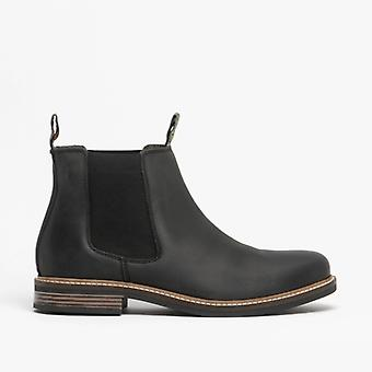 Barbour Farsley Mens Leather Chelsea Boots Black