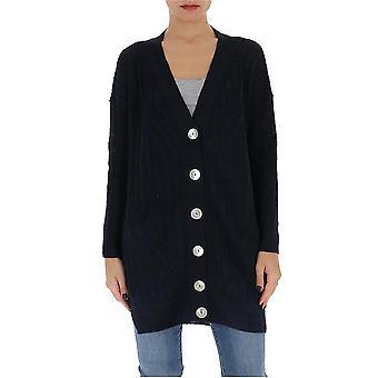 Gentry Portofino D740isg0006 Women's Blue Cotton Cardigan