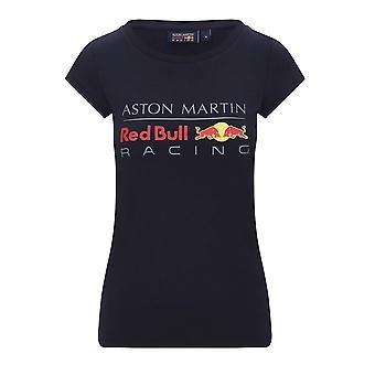 Aston Martin Red Bull Racing Women's Large Logo T-Shirt | Navy | 2020