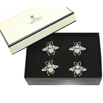 Honey Bee Pewter Candle Pins (Set of 4)