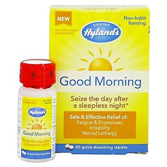 Hyland is Goedemorgen, vermoeidheid & slaperigheid reliëf, tabletten, 50 ea