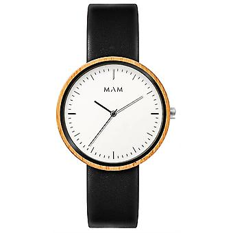 Mam Watches Flat Watch for Japanese Quartz Analog Man with Cowskin Bracelet 644