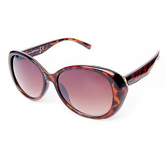 Sunglasses Women's panto brown flamed/pink(20-058)