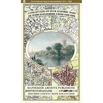 A Collection of Four Historic Maps of Worcestershire by Mapseeker Arc