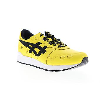 Asics Gel Lyte  Mens Yellow Leather Lace Up Low Top Sneakers Shoes