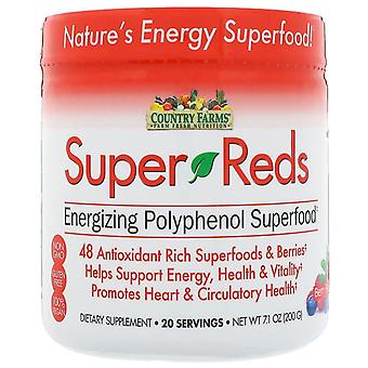 Country farms super reds, energizing superfood, berry flavor, 7.1 oz