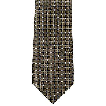Michelsons of London Bold Diamond Neat Skinny Polyester Tie - Taupe Brown