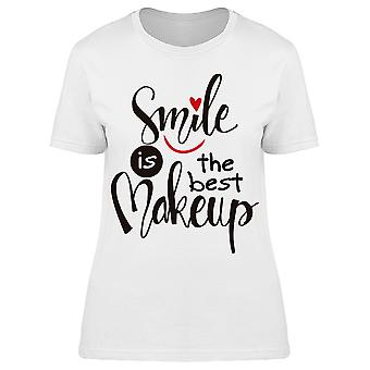 Smile Is The Best Makeup Graphic Tee Women's -Image by Shutterstock