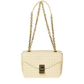 Céline Ezgl076044 Women's Beige Leather Shoulder Bag
